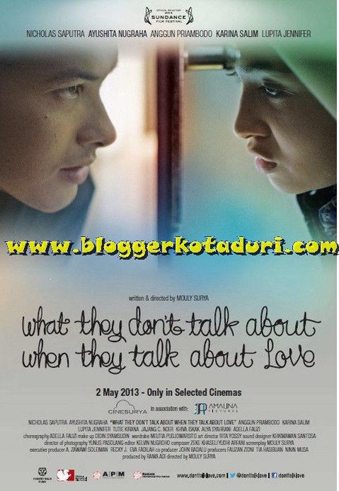 「愛を語るときに、語らないこと」のオリジナル・ポスター
