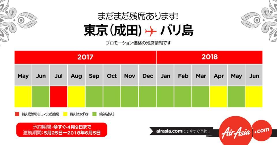 セール「東京⇒バリ就航記念キャンペーン」